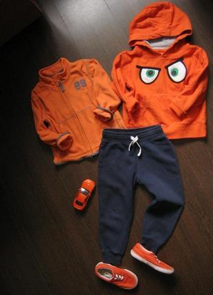Яркий спортивный комплект худи штаны кеды 2-4 г. хлопок