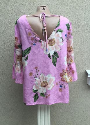 Яркая блуза,цветочный принт,открытая спина,воланы,рюши,этно,бохо стиль,большой размер