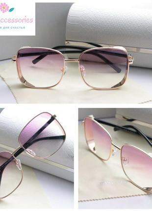 Красивые очки с розовыми линзами