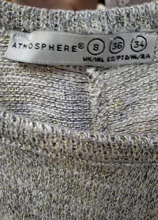 Легкий свободный свитерок atmosphere с люрексовой нитью6