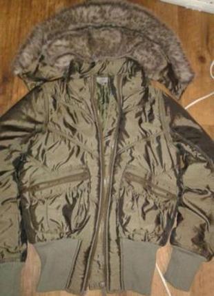 Куртка парка меховой капюшон