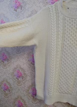 Уютный свитер в косы2 фото