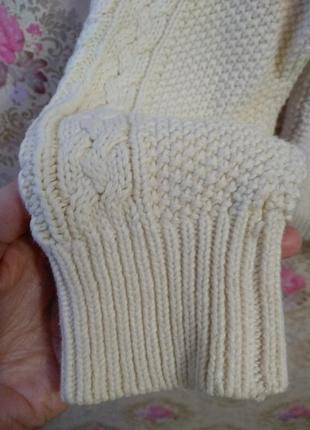 Уютный свитер в косы4 фото