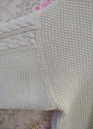 Уютный свитер в косы5 фото