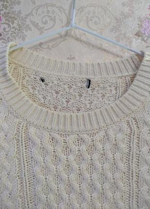 Уютный свитер в косы6 фото