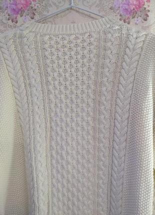 Уютный свитер в косы8 фото