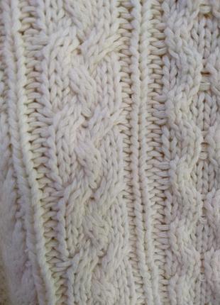 Уютный свитер в косы9 фото