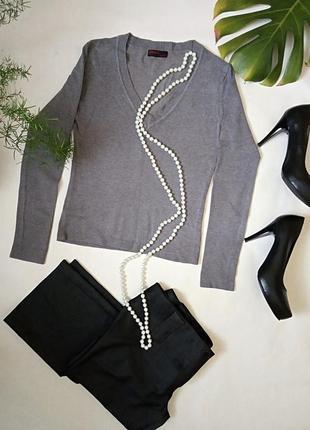 Базовый серый джемпер свитер от cocomax.