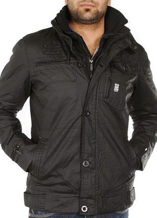 Не промокаемая, не продуваемая  демисезонная армейская курточка crosshatch black label
