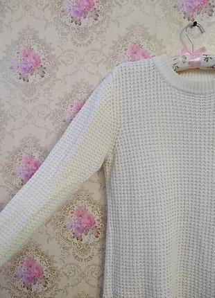 Вязанный удлиненный свитер2