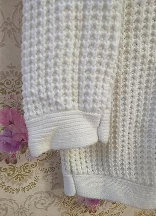 Вязанный удлиненный свитер3