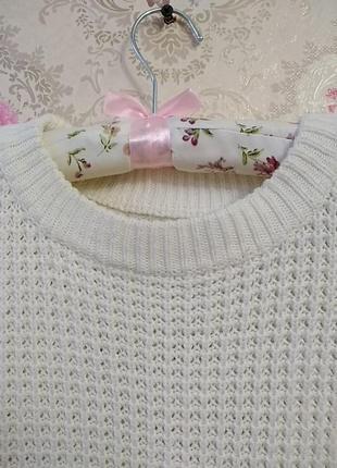 Вязанный удлиненный свитер4