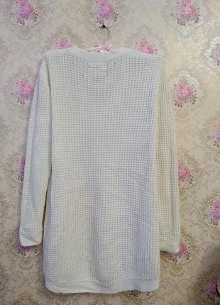 Вязанный удлиненный свитер5