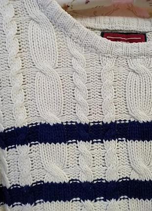 Укороченный свитер в косы2 фото