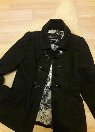 Укороченное пальто/ шерсть# guess#оригинал