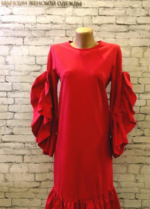 Вискзное платье цвета фрезии