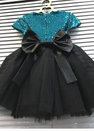 Супер необычное пышное платье с пайетками и фатином