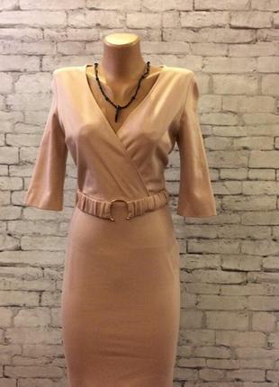 Эллегантное нюдовое платье,дополнит ваш повседневный весенний гардероб