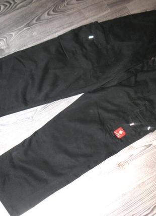 Добротные плотные черные мужские штаны - спецовка