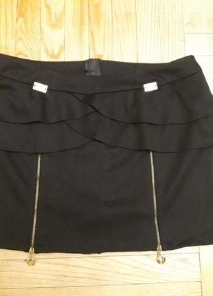 Стильная и сексуальная юбка piena  размер l сзади молния