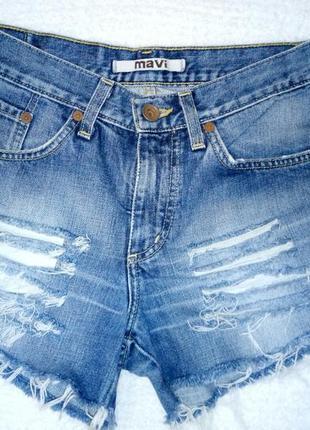 Джинсовые шорты из плотного джинса2