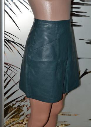 Кожаная юбка плотная1 фото