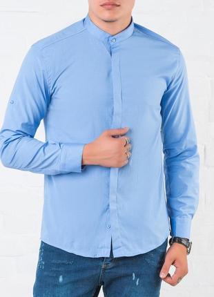 123522ccd2d1d81 Тренд этого сезона , мужская рубашка slim fit из натурального хлопка s , m  , l