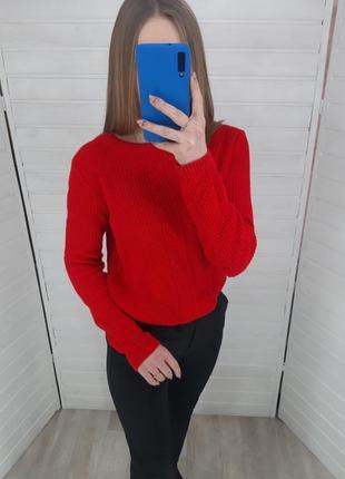 Расный свитер с открытой спиной primark