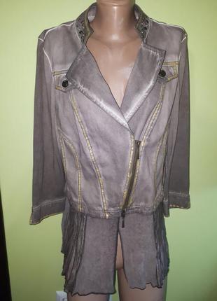 Uk14 новая куртка-пиджак biba 100% коттон