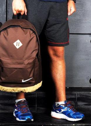 Рюкзак,сумка для ноутбука, кожаное, дно, спортивный, городской, коричневый, бежевый