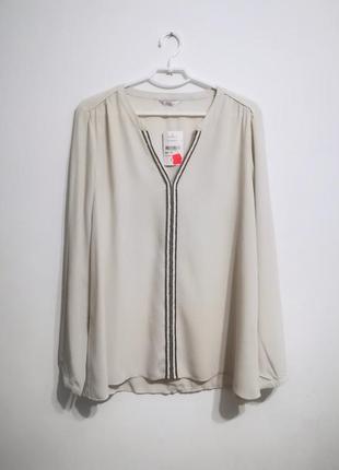 Новая блуза из вискозы цвета экрю, айвори, miss etam, xxl