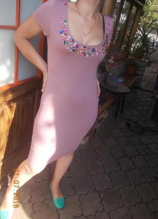 Трикотажное,платье миди