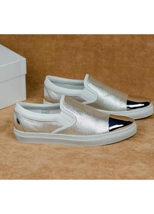Дизайнерские кожаные слипоны мокасины stokton 702 италия 39-40р. 26 см.