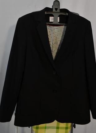 2701\120 черный шерстяной пиджак next xxl5