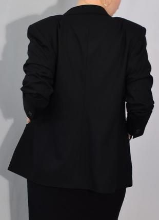 2701\120 черный шерстяной пиджак next xxl7