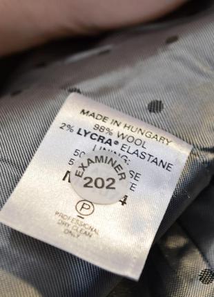 2701\120 черный шерстяной пиджак next xxl9
