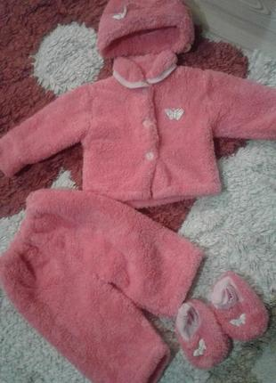 Плюшевий костюм для новонарожденого