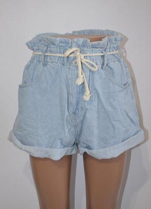 Шорты джинсовые высокая талия old school1