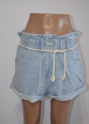 Шорты джинсовые высокая талия old school3
