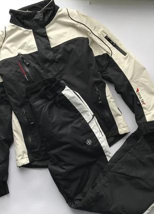 Мужской чёрно белый лыжный костюм crane s