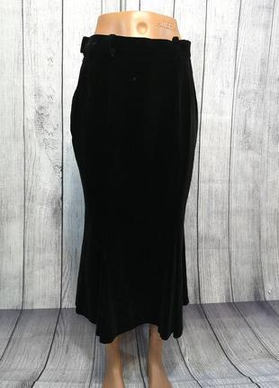 Юбка макси, бархатная rehli, austria, 38 (s), черная, как новая!