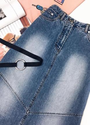 Юбка трапеция джинсова