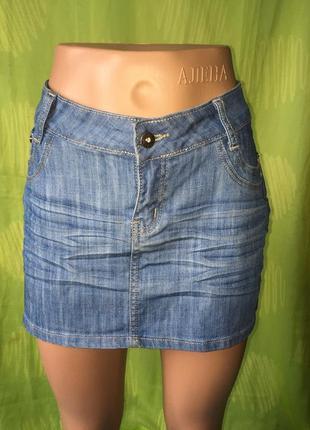 Легкая джинсовая юбка 48 р