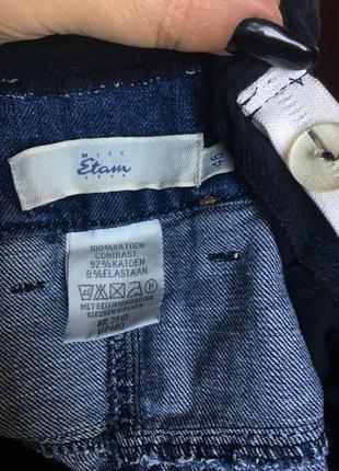 Джинсовая короткая юбка с стрейчевым животиком\для мам 54 р4