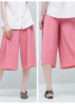 Cтильные розовые кюлоты-юбка 48 p\как новые2