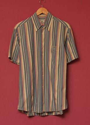 Lacoste рр 40 л-хл хлопковая рубашка оригинал