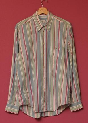Lacoste л-хл 40 рубашка длинный рукав хлопок оригинал