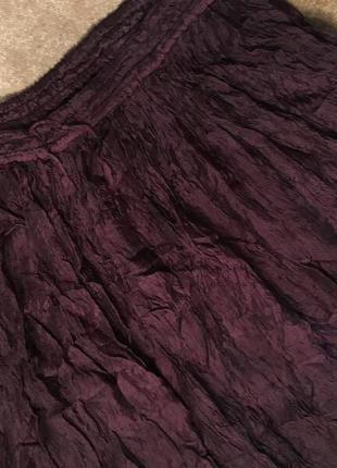 Пышная шоколадная юбка жатка на резинке 50 р2
