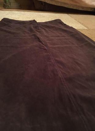 Прямая юбка масло с карманами 50 р2