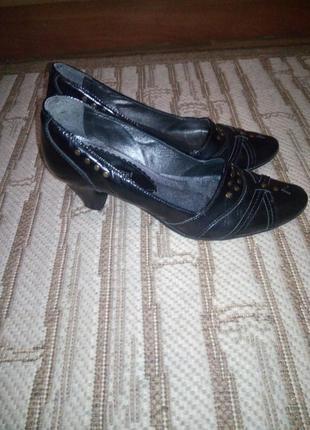Шкіряні туфлі2 фото